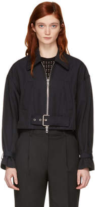 3.1 Phillip Lim Navy Utility Belted Jacket