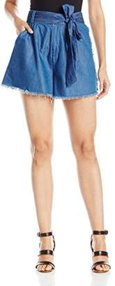 KENDALL + KYLIE Women's Frayed Chambray Shorts