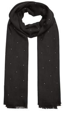 MANGO Rhinestone detail scarf
