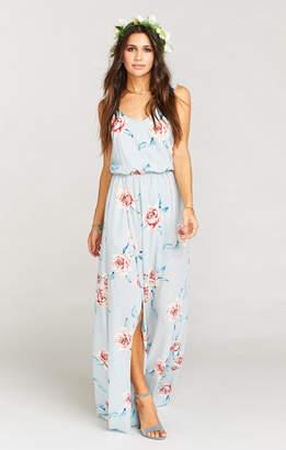 Show Me Your Mumu Kendall Maxi Dress ~ Flower Hour Sky