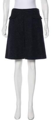 MAISON KITSUNÉ Wool-Blend Knee-Length Skirt