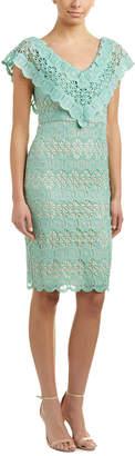 Champagne & Strawberry Lace Sheath Dress