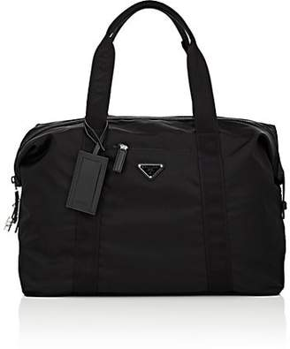 Prada Men's Small Leather-Trimmed Duffel Bag - Black