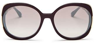 Jimmy Choo Women's Lila Oversized Round Sunglasses, 60mm