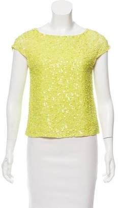 Alice + Olivia Sequin Silk Top
