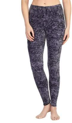 Cuddl Duds Climateright By ClimateRight by Stretch Luxe Velour Warm Long Underwear Legging
