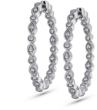KC Designs Inside Out Diamond Hoop Earrings