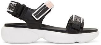 Prada Black Cloudbust Velcro Sandal