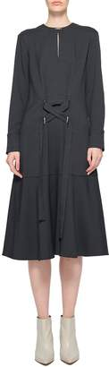 Tibi Chalky Drape Midi Tie Dress