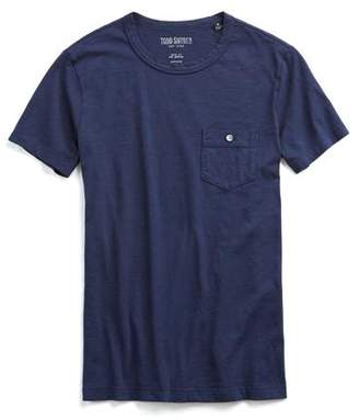 Todd Snyder Made in L.A. Garment Dyed Pocket T-Shirt in Navy