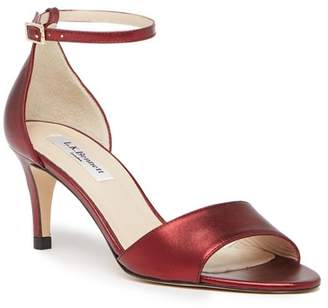 LK Bennett Omya Leather Ankle Strap Sandal