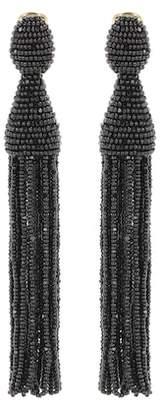 Oscar de la Renta Tasselled clip-on earrings