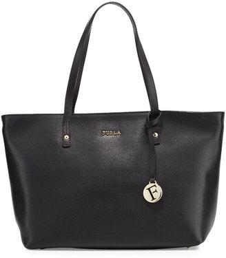 Furla Daisy Medium Leather Tote Bag, Onyx $255 thestylecure.com