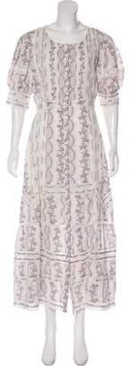 LoveShackFancy Maxi Print Dress w/ Tags