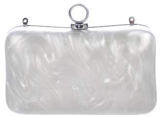 Halston Two-Tone Resin Clutch Bag