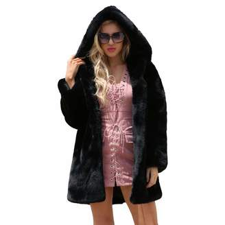 Vanvler ❤ women coat jacket Women Faux Fur Coats Jackets,Vanvler Ladies Winter Warm Parka Outerwear Hooded Coat