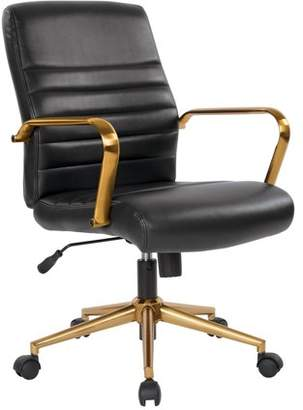 Office Star Ave Six by Products Baldwin Mid-Back Faux Leather Chair