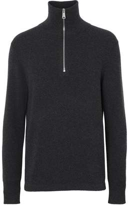 Burberry cashmere half-zip sweater