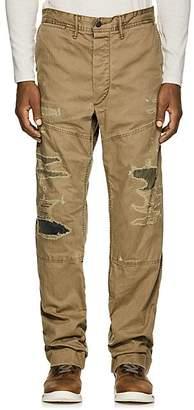 BEIGE RRL Men's Torrance Herringbone Cotton Work Pants - Beige, Tan
