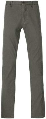 Incotex patterned slim fit trousers