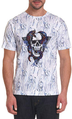 Robert Graham Men's Snake Skull T-Shirt