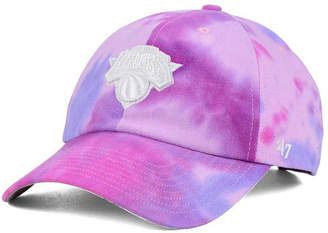 '47 New York Knicks Pink Tie-Dye Clean Up Cap
