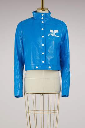 Courreges Short Vinyl Jacket