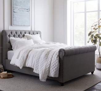 Pottery Barn Chesterfield Upholstered Bed