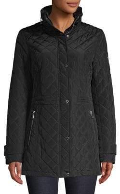 Calvin Klein Front-Zip Quilted Jacket
