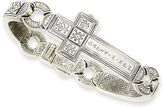 Konstantino Men's Dare Sterling Silver Cross Bracelet, 2.5""
