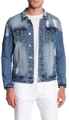 X-Ray XRAY Distressed Denim Jacket