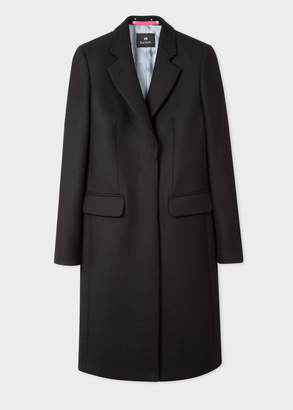 Paul Smith Women's Black Wool And Cashmere-Blend Epsom Coat