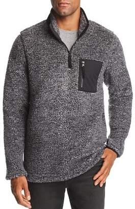 Pacific & Park Mixed-Media Pullover Sherpa Jacket - 100% Exclusive