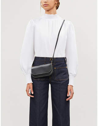 KITRI Puffed-sleve crepe blouse