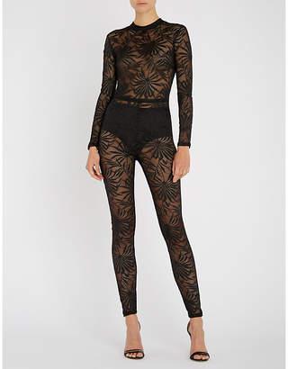 Myla Soho cutout lace-jacquard jumpsuit