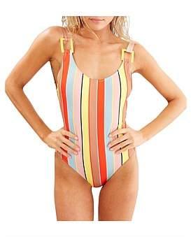 Solid & Striped The Stella One Piece Cabana Stripe