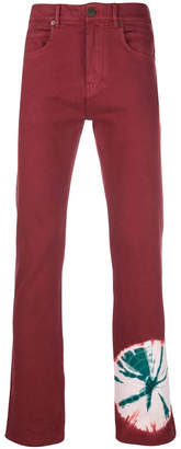 Calvin Klein tie-dye splatter jeans