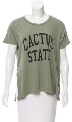 Current/Elliott Distressed Graphic T-Shirt