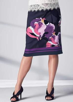 Kaleidoscope Flocked Placement Print Skirt
