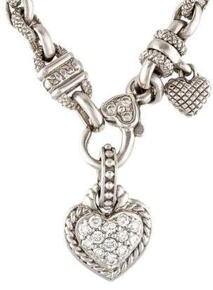 Judith ripka necklaces shopstyle pre owned at therealreal judith ripka diamond heart pendant necklace aloadofball Images
