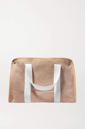 BEIGE Kassl Editions - Small Canvas-trimmed Wool-felt Tote