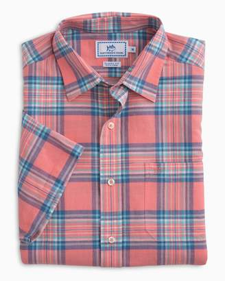Southern Tide Cockleshell Bay Plaid Short Sleeve Sport Shirt