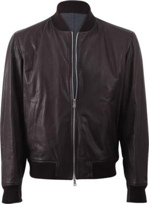 Brunello Cucinelli Reversible Leather Wool Bomber