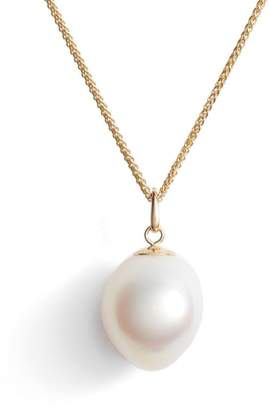 Poppy Finch Double Chain Pearl Pendant Necklace