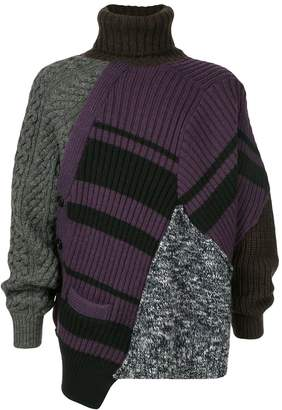 oversized patchwork jumper