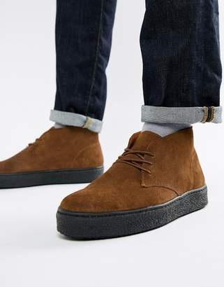Zign Shoes cupsole desert boots in brown suede