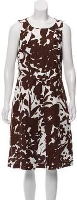 Michael Kors Sleeveless Abstract Print Dress Brown Sleeveless Abstract Print Dress
