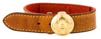 Louis Vuitton Leather Flower Wish Bracelet Gold Leather Flower Wish Bracelet