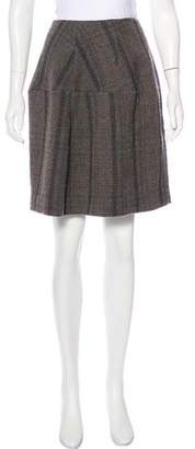 Marni Wool Plaid Skirt