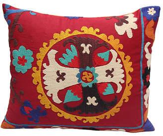 One Kings Lane Vintage Suzani Cross Pillow - Erin Keller Home